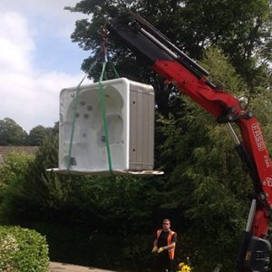 moving a hot tub